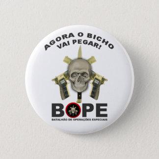 BOPE -ブラジルの警察 5.7CM 丸型バッジ