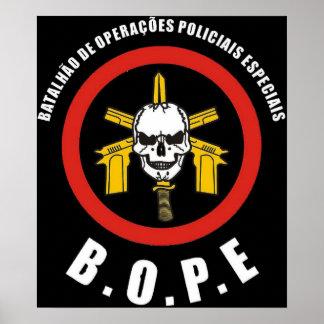 BOPE Tropa De Elite Brazilianの特別な警察 ポスター