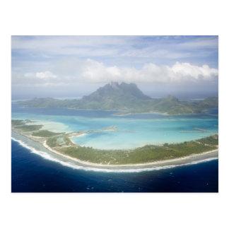 Boraの小さい通勤者の飛行機からの空中写真 ポストカード