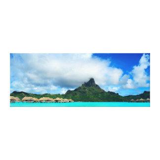 Bora Boraのキャンバスのパノラマの熱帯リゾート キャンバスプリント