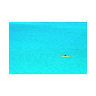 Bora Boraのキャンバスのプリントの舷外浮材付きのカヌー キャンバスプリント