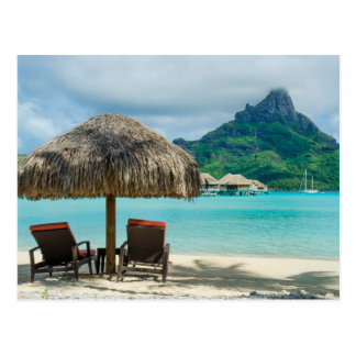 Bora Boraのビーチチェアの郵便はがき ポストカード