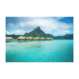 Bora Boraの島のキャンバスのプリントの眺め キャンバスプリント