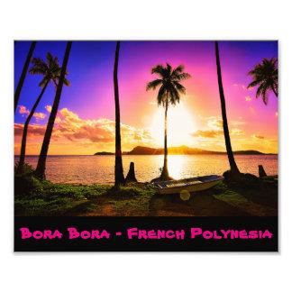 Bora Boraの日没 フォトプリント