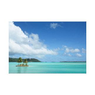 Bora Boraの礁湖のキャンバスのプリントのヤシの木 キャンバスプリント