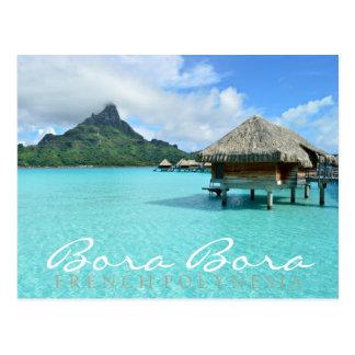 Bora Boraのoverwaterリゾートの倍の文字の郵便はがき ポストカード