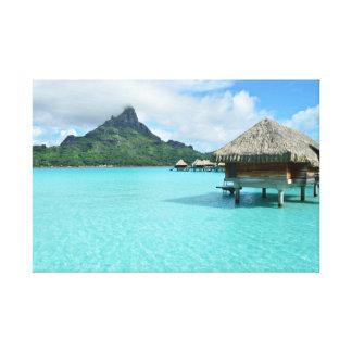 Bora BoraのOverwaterリゾート キャンバスプリント