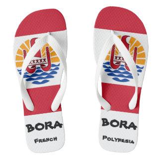Bora Boraフランス領ポリネシアの旗のビーチサンダル ビーチサンダル