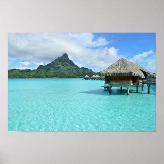Bora BoraポスターのOverwaterリゾート ポスター