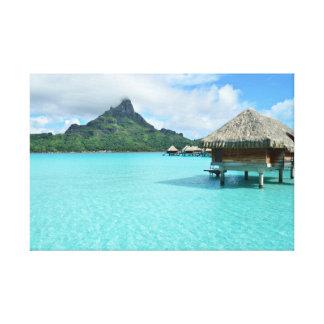Bora Boraリゾートのキャンバスのプリント キャンバスプリント