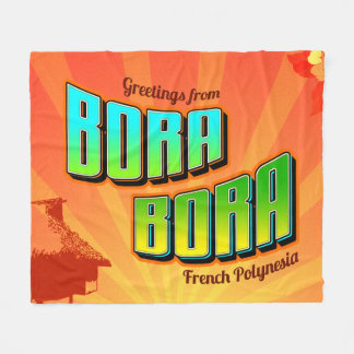 Bora Bora毛布 フリースブランケット