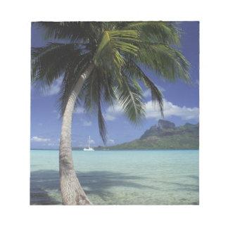 Bora Bora、見られるフランス領ポリネシアMt. Otemanu ノートパッド