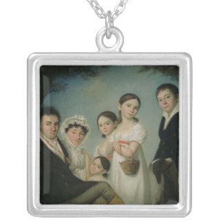 Boratynsky家族1816年 シルバープレートネックレス
