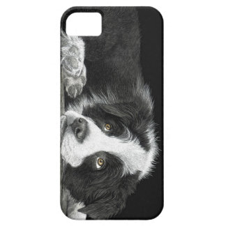 "Border Collie Pup - ""Tell Me More About 'Sheep'"" iPhone SE/5/5s ケース"