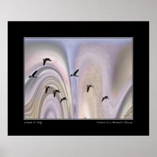Borealisの飛路の色 ポスター
