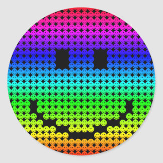 Borgのスマイリーの虹 ラウンドシール