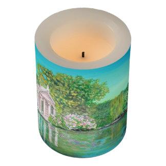 """Borghese、包まれたなLEDの蝋燭、3"""" x 4"""" LEDの蝋燭 LEDキャンドル"""
