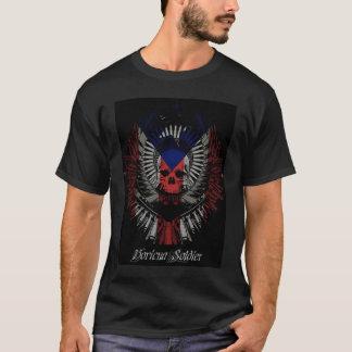 Boricuaの兵士人 Tシャツ