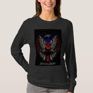 Boricuaの兵士女性 Tシャツ