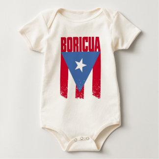 Boricuaの旗 ベビーボディスーツ
