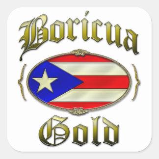 Boricuaの金ゴールド スクエアシール