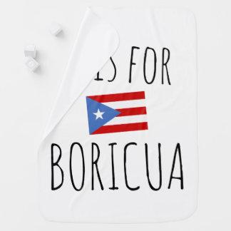 Boricua: プエルトリコの旗 ベビー ブランケット