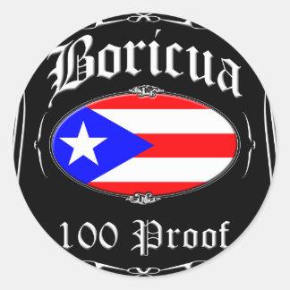 Boricua 100の証拠 ラウンドシール