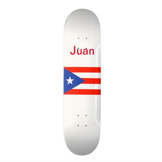 Boricua Banderaのプエルトリコの旗4Juan スケボー