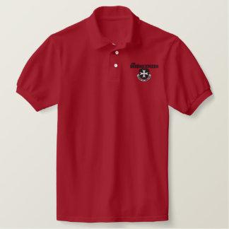 Borinqueneersのポロシャツ(黒い刺繍) 刺繍入りポロシャツ