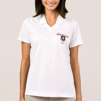 Borinqueneersのロゴ及び名前の女性のポロシャツ ポロシャツ