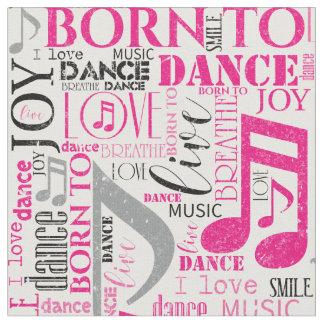 Born to Dance Pink/Black ID277 ファブリック