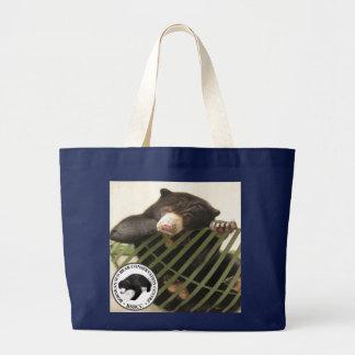 Bornean日曜日くまの保存の中心 ラージトートバッグ