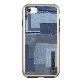 Boro Boro青いジーンのパッチワークのデニムShibori Incipio DualPro Shine iPhone 8/7ケース