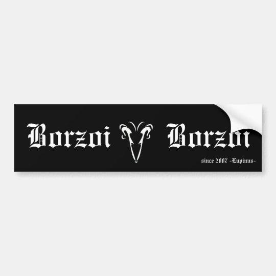 Borzoi バンパーステッカー