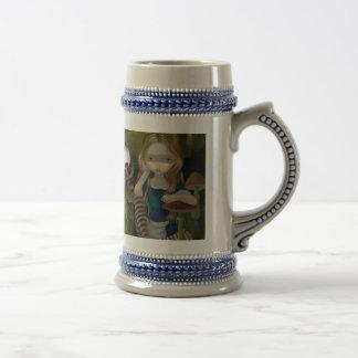 """""""Boschの景色のアリス""""のマグ ビールジョッキ"""