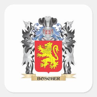 Boscherの紋章付き外衣-家紋 スクエアシール