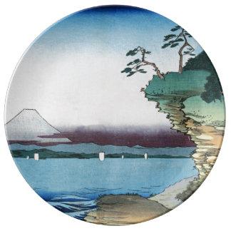 Boshu (ヴィンテージの日本のな芸術)のHotaの海岸 磁器プレート