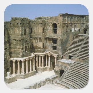 Bosra、シリアのローマの劇場 スクエアシール