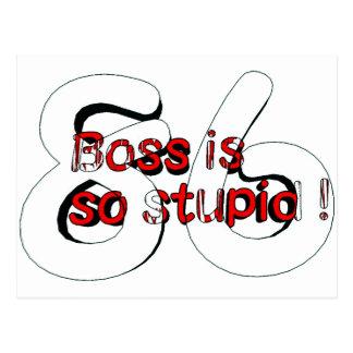 Boss is so stupid 86 葉書き