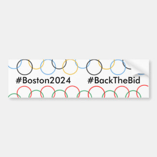#Boston2024 #BackTheBidのバンパーステッカー バンパーステッカー