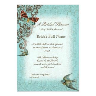 Botanicaの結婚式のブライダルシャワーの招待-水の青 カード