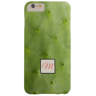 Botanical Tropical Green Cactus Photo Monogram Barely There iPhone 6 Plus ケース