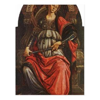 BotticelliのサンドロFortitudoの1470年の技術の気性 ポストカード