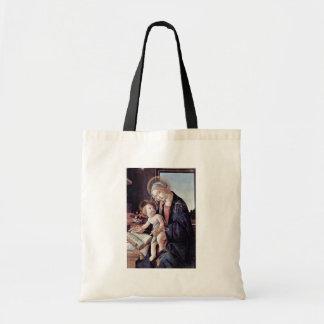 Botticelliサンドロ著作の本のマドンナ、 トートバッグ