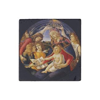 Botticelli著Magnificatのマドンナ ストーンマグネット