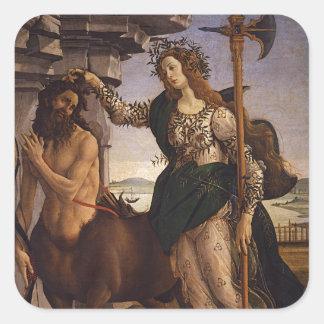 Botticelli著Pallasそしてケンタウルス スクエアシール