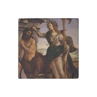 Botticelli著Pallasそしてケンタウルス ストーンマグネット
