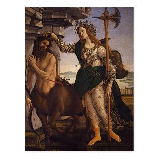 Botticelli著Pallasそしてケンタウルス ポストカード