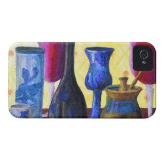Bottlescape I -ルビー色の赤いゴブレット、金蜂蜜のポット Case-Mate iPhone 4 ケース