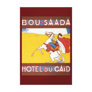 Bou Saadaのヴィンテージ旅行ポスター キャンバスプリント